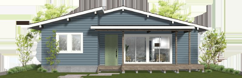 コンパクトな平屋住宅